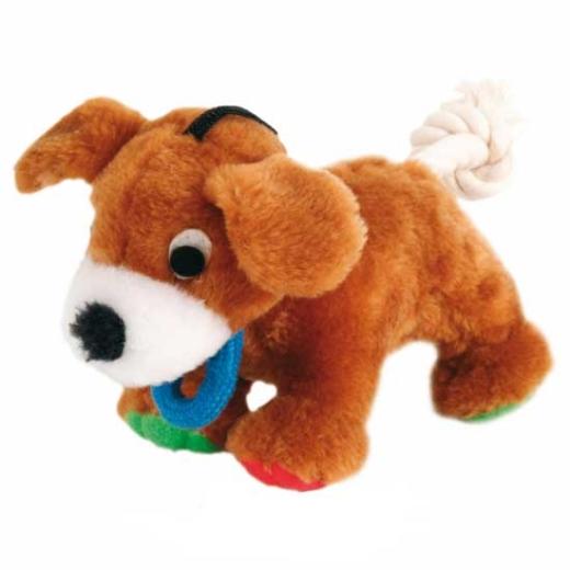 Plüsch-Hund mit Tau