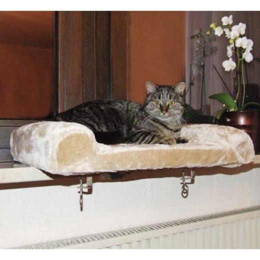 kuscheliges Sitzbrett für Katzen Fensterbank