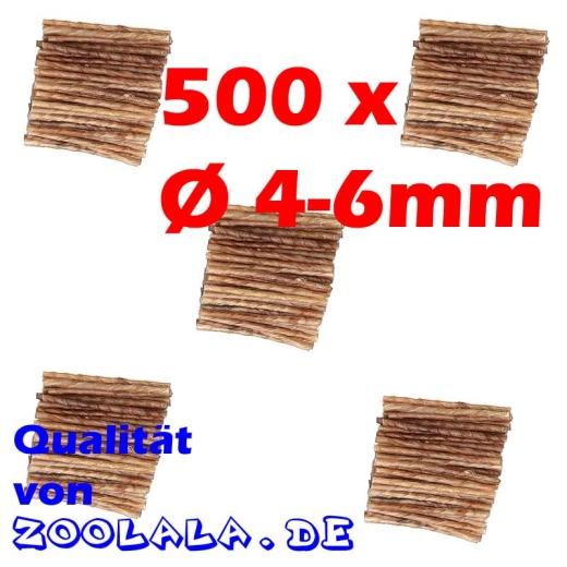 500 Kaurollen Rinderhaut gedreht Ø 4-6mm