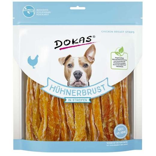 5 x Dokas Hundesnack Hühnerbrust in Streifen 500 g