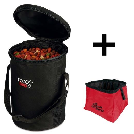 Reise-Set Foodbag + Trinknapf
