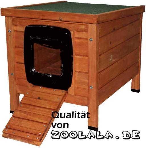 Zoolala Outdoor Katzenhaus mit Klappe