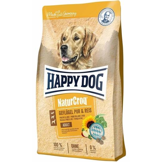 Happy Dog NaturCroq Geflügel pur & Reis 15kg (Versandkostenfrei)