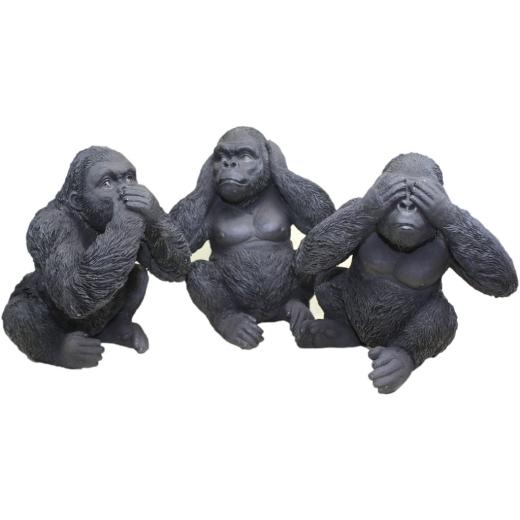 3er Set Gorillas nicht hören sehen reden