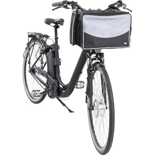 Hunde Fahrrad Front-Box schwarz-grau