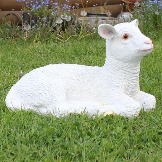Lamm Deko Schaf liegt 40