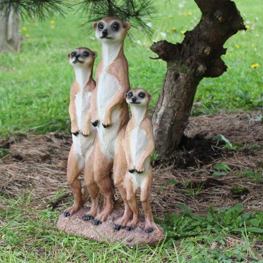 Deko Erdmännchen Familie 40