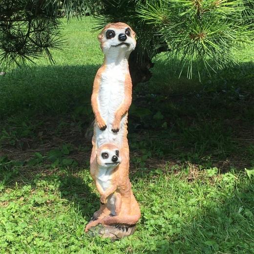 Erdmännchen mit Kind 46cm