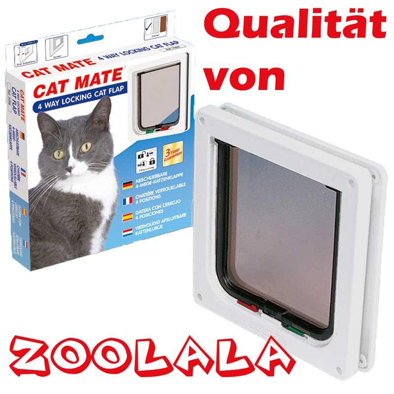 katzenklappe catmate 309 w katzent r cat mate 4 wege stoff fliegengitter neu ebay. Black Bedroom Furniture Sets. Home Design Ideas