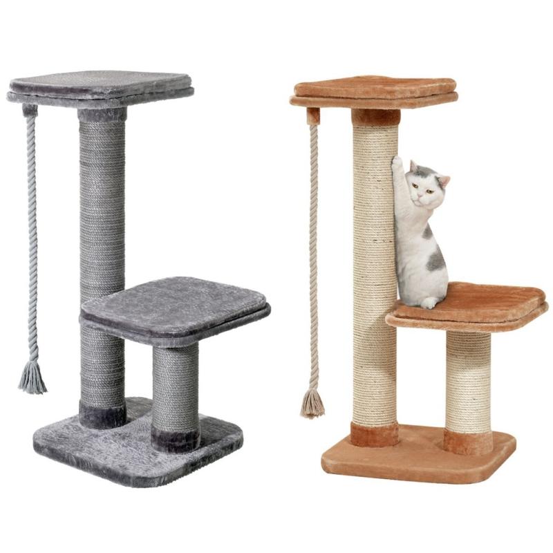 big cat kratzbaum f r gro e schwere katzen grau. Black Bedroom Furniture Sets. Home Design Ideas