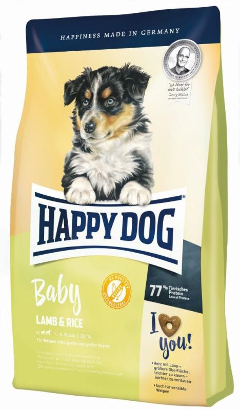 happy dog supreme young baby lamm reis 10kg. Black Bedroom Furniture Sets. Home Design Ideas