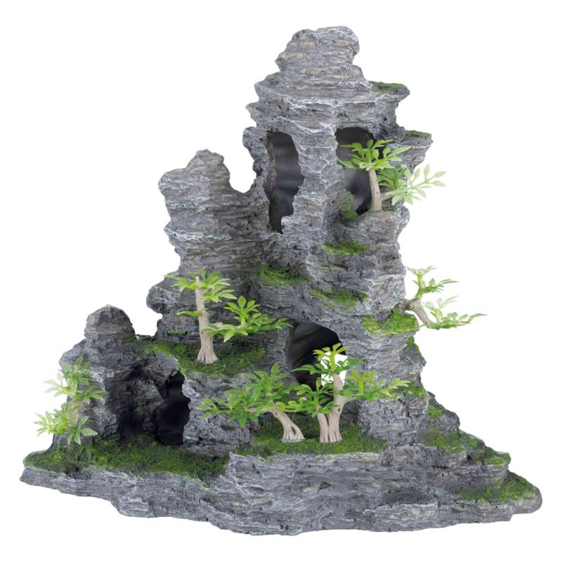Xxl Deko Felsformation Mit Kunststoffpflanzen