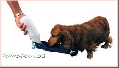 Trinkflasche Hund Unterwegs