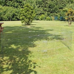 Sommergarten 12x60x60 verzinkt mit 2 Türen