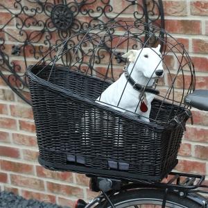 XL Hunde-Fahrradkorb für Gepäckträger schwarz