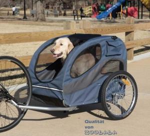 Solvit HoundAbout Hunde-Fahrradanhänger blau A13