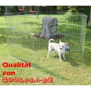Zoolala Welpengitter verzinkt mit Tür viele Größen Welpenauslauf