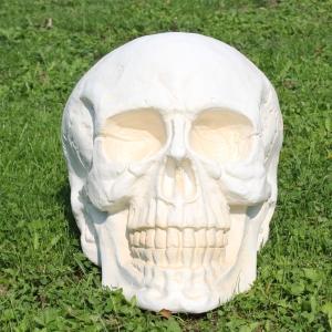 XXL Deko Totenkopf Skull weiss