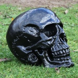 XXL Deko Skull Totenkopf black